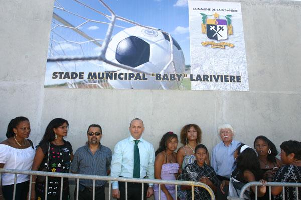 Inauguration stade Baby Larivierre