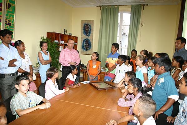 Conseil d'élèves citoyens en visite