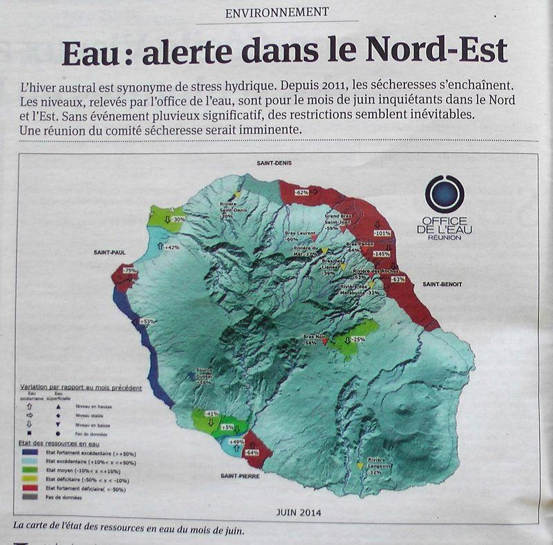 Eau alerte pour l'Est