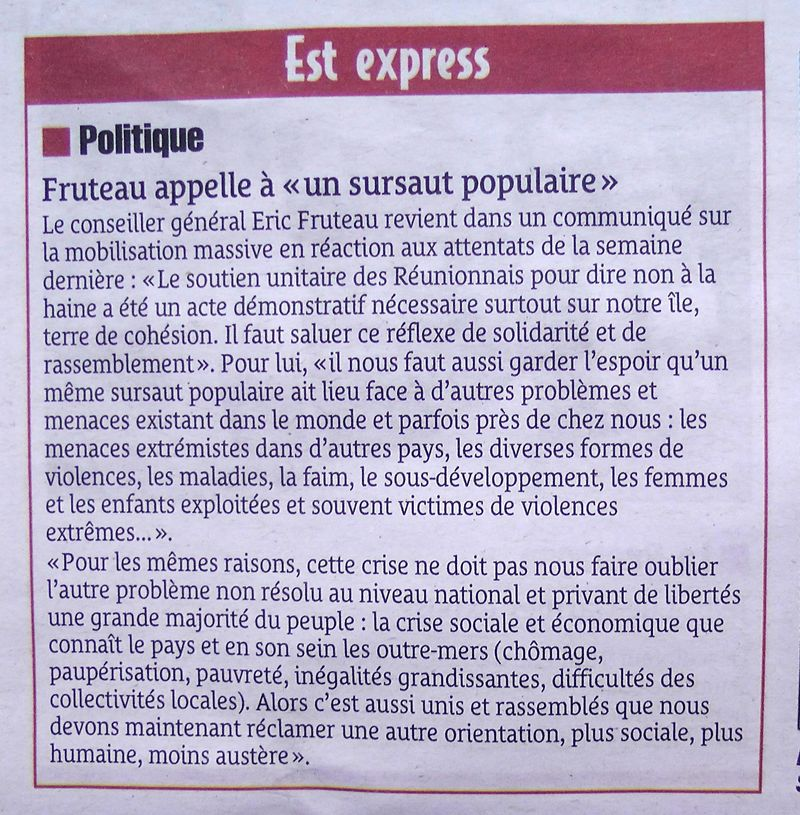 Presse du 16012015